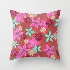 Garden of flowers Throw Pillow