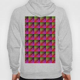 Vivid Pink and Lime Pixel Art Tile Pattern Hoody