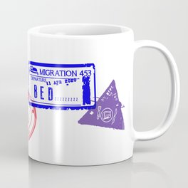Series Of Home Travel Passport Stamps - Staying Home Coffee Mug