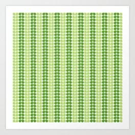 Pattern green green  Art Print