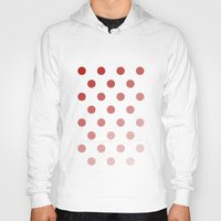 polka dots Hoodies featuring Polka Dots by Silver Rain