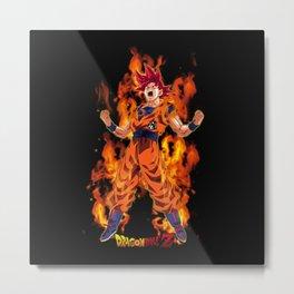 Super Saiya Goku 0001 Metal Print