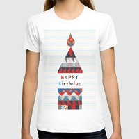 happy birthday T-shirts featuring Happy birthday by Varsha
