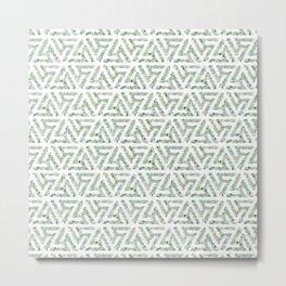 Sea glass - green triskelion Metal Print