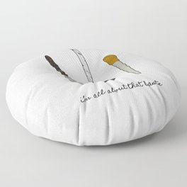 I'm All About That Baste, Humorous Quote Floor Pillow