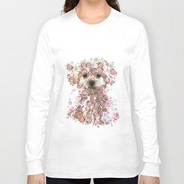 Vintage doggy Bichon frise.DISCOVER Long Sleeve T-shirt