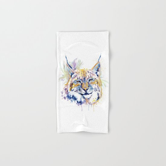 Bobcat Head Hand & Bath Towel