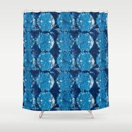 Cyanotype Diamonds Shower Curtain