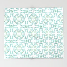 Moroccan Tile Pattern Throw Blanket