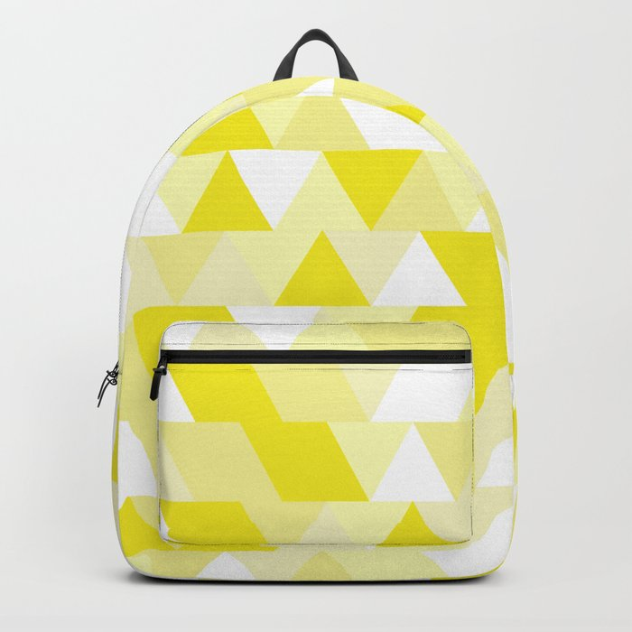 Simple Geometric Triangle Pattern- White on Yellow- Mix & Match with Simplicity of life Backpack