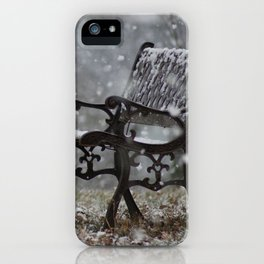 Snowfall in the loneliness iPhone Case