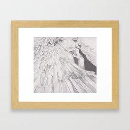 Angel Sketch Framed Art Print