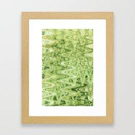 Waves Celadon Framed Art Print