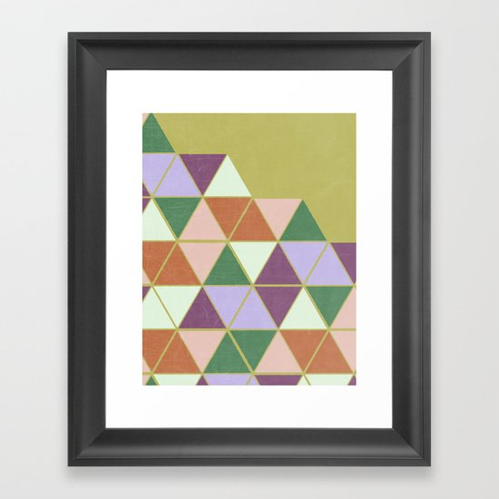 Hexaflexagon Framed Art Print