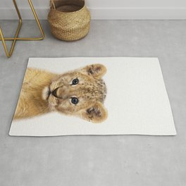 Baby Lion, Baby Animals Art Print By Synplus Rug