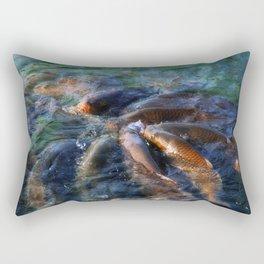 Fishy Gossip Rectangular Pillow
