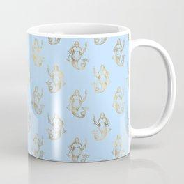 Elegant Gold Mermaid Pattern Coffee Mug