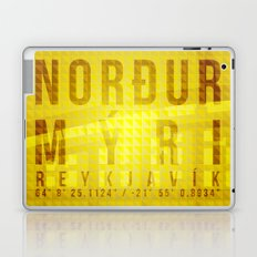 Nordurmyri Yellow Laptop & iPad Skin