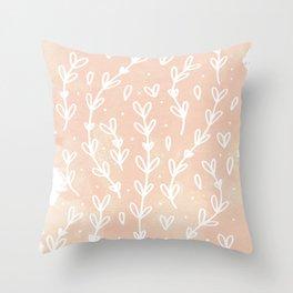 Blush Vines Throw Pillow