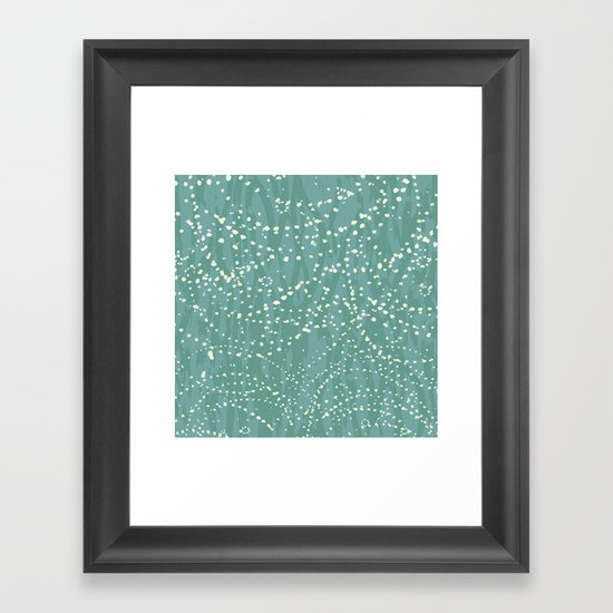 Ebb & Flow: Drops Framed Art Print