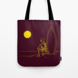 No waves, just waiting and relax (forever)... Tote Bag