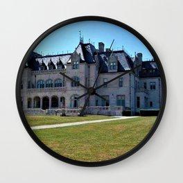 Newport Mansions - Ochre Court - by Jeanpaul Ferro Wall Clock