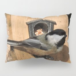 Black-Capped Chickadee at the Feeder Pillow Sham
