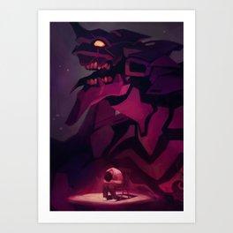 Evangelion - Shinji Art Print