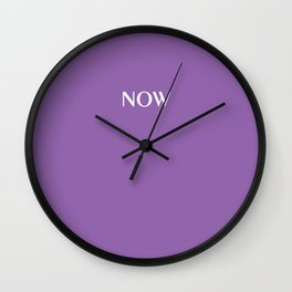 Solid color AMETHYST ORCHID purple NOW Wall Clock