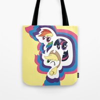 mlp Tote Bags featuring MLP by pixel.pwn | AK