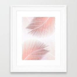 Palm leaf synchronicity - rose gold Framed Art Print