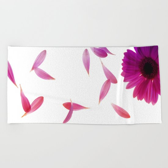 purple petaled flower  Beach Towel