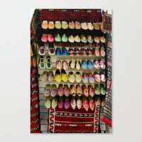 shoes Canvas Prints featuring Shoes by Deesign