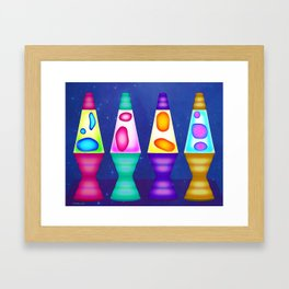 Lava Lamps Framed Art Print