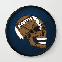 rugby Wall Clocks featuring RUGBY by frail