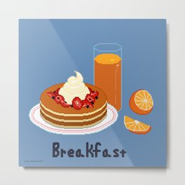 Breakfast - Pancakes Metal Print