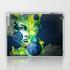 Evelin Green (Set) by carographic watercolor portrait Laptop & iPad Skin