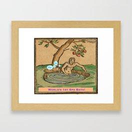 Worlds First Spa! Framed Art Print