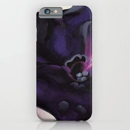 Purple Petunia Sill Life Floral Painting by Georgia O'Keeffe iPhone Case