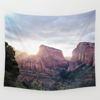utah Wall Tapestries featuring Zion- Utah by Photography by COCO