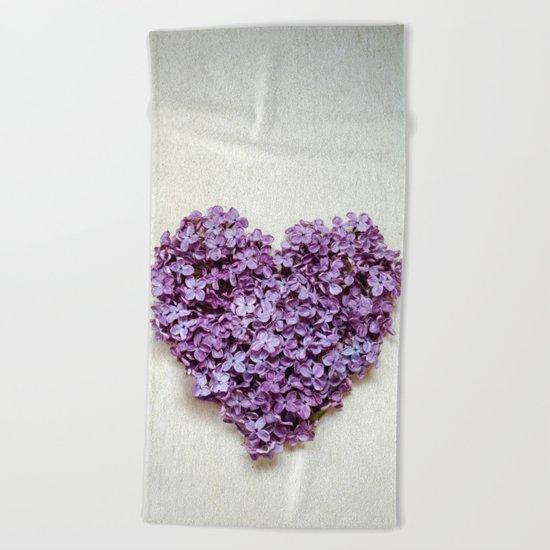 Summer Heart Beach Towel