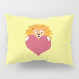 Romantic Lion with heart T-Shirt D5e8y Pillow Sham