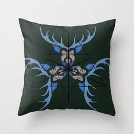 Angles and Antlers Throw Pillow