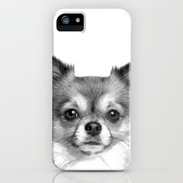 Black and White Chihuahua iPhone Case