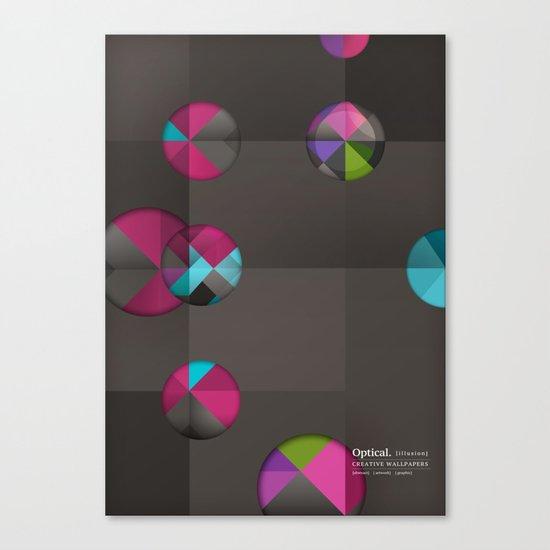 optical illusion black Canvas Print