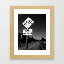 Share The Road  Framed Art Print