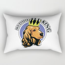 Red cocker spaniel head with crown Rectangular Pillow