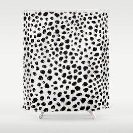 Gold and Black Animal Print Shower Curtain
