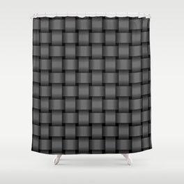 Dark Gray Weave Shower Curtain