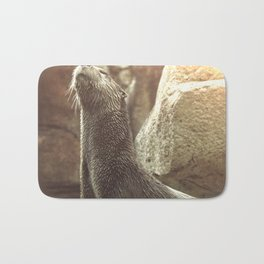 River Otter with Head Stretched Upward Bath Mat